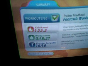 Day 8 EA Sports Active on Wii