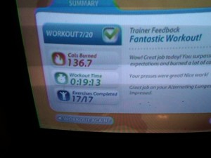 Day 11 EA Sports Active Wii