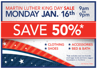 MLK Day Sale sign