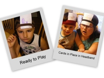 DIY Hedbanz Game for Kids