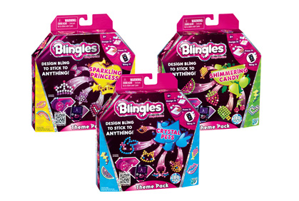 Blingles Theme Packs Series 3 and One Blingles Glimmer Theme Pack
