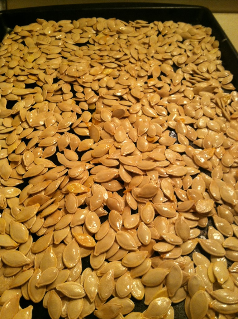 Pumpkin Seeds Read to Roast