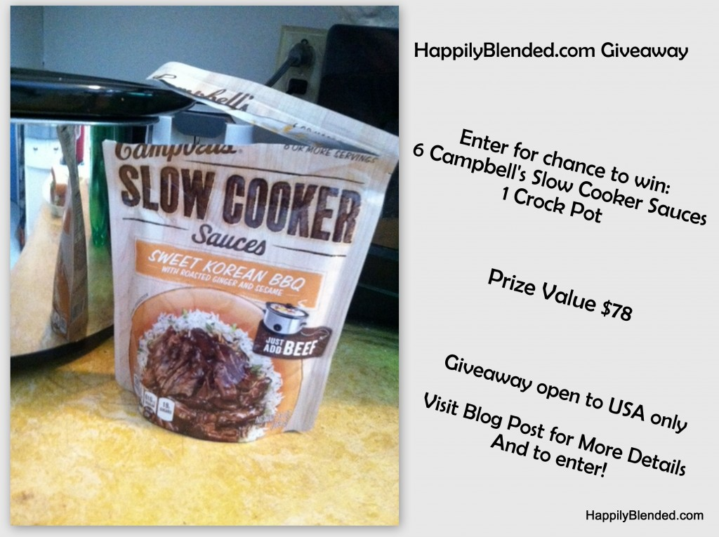 Campbell's Slow Cooker Sauces Giveaway