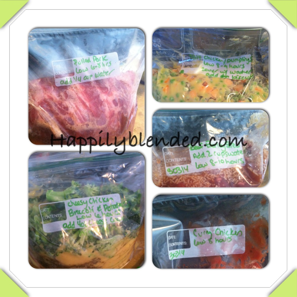 More Frozen Crock Pot Meal Planning