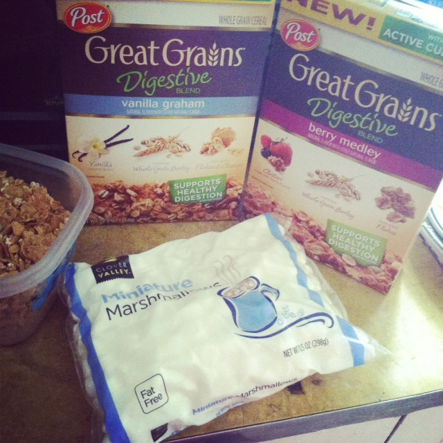 Post Great Grains Cereal Bar Snacks Recipe