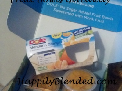Dole No Sugar Added Fruit Bowls Giveaway
