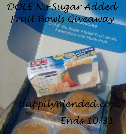 Dole No Sugar Added Fruit Bowls Giveaway Ends 10/31
