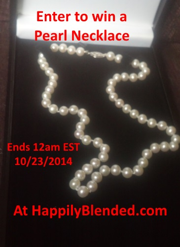 Enter to Win Pearl Necklace from Pearl Distributors Hosted at HappilyBlended.com (approx value $400-$500) Ends 10/23/14