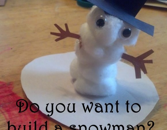 Do You Want to Build a Snowman Craft? #crafts #toddler #preschool