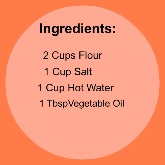 Ingredients for Homemade Clay