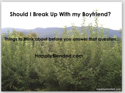 Should I Dump my Boyfriend