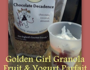 Golden Girl Granola Fruit & Yogurt Parfait Recipe Idea #foodie #recipe @GoGoldenGirl
