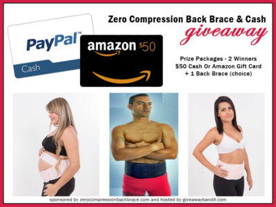 Zero Compression Back Brace and a $50 Giveaway #EndAllBackPain @Back_Support
