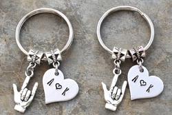 A Couple's Key Chain Set