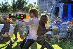 Night-time Water Gun Game