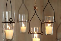 Glass Hanging Candle Holders