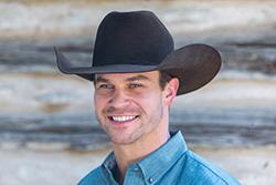 Man Wears a Cowboy Hat