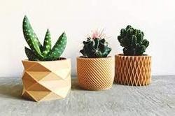 Wooden Geometric Planters